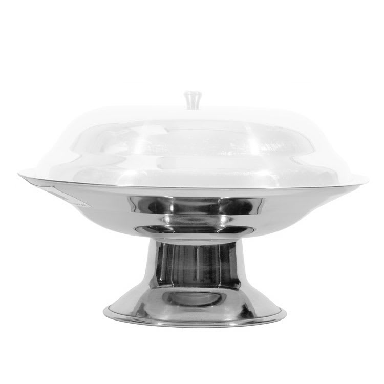 Town 25285 Stainless Compote Dish, Footed Base, Without Cover, 8 1/2 in