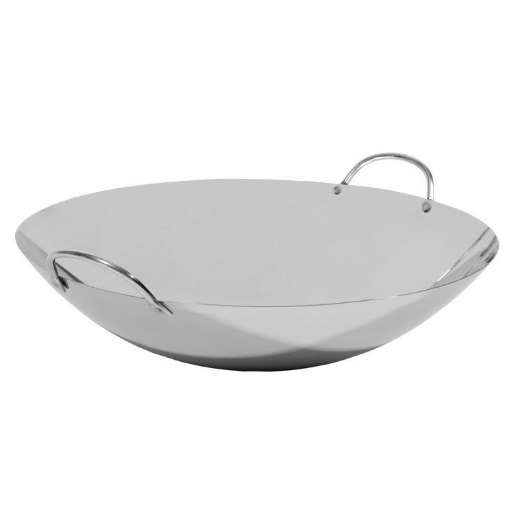 "Town 34705 14"" Stainless Stir Fry Pan - Cooking and Serving"