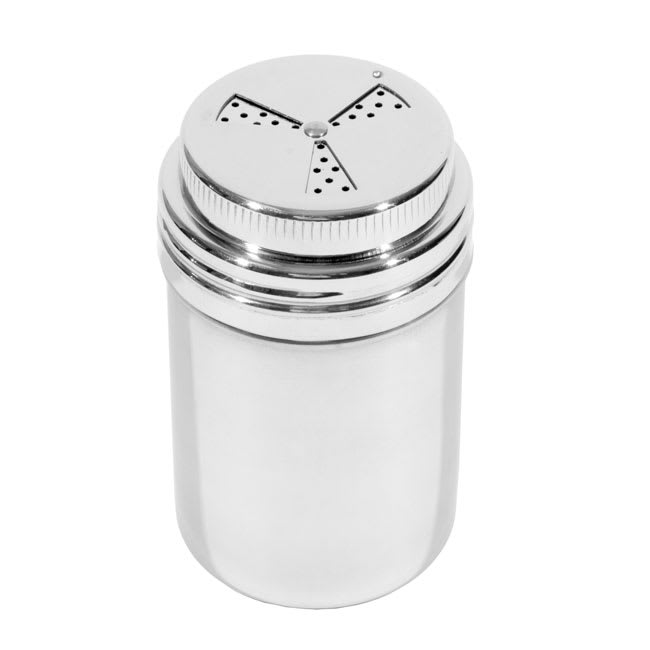 Town 37594 9 oz Dredge/Shaker, No Handle, 3-Way Adjustable Top, Stainless