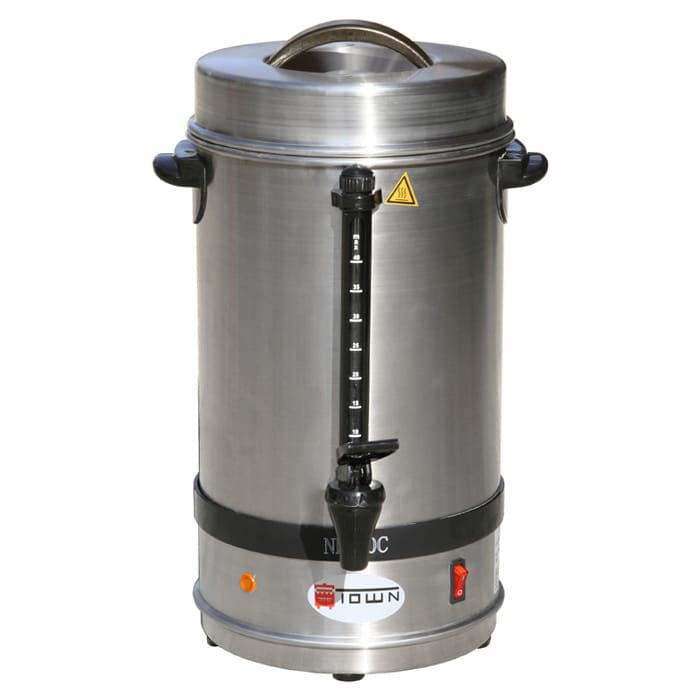 Town 39109 60 Cup Coffee Maker Percolator Urn, Stainless, 120 V