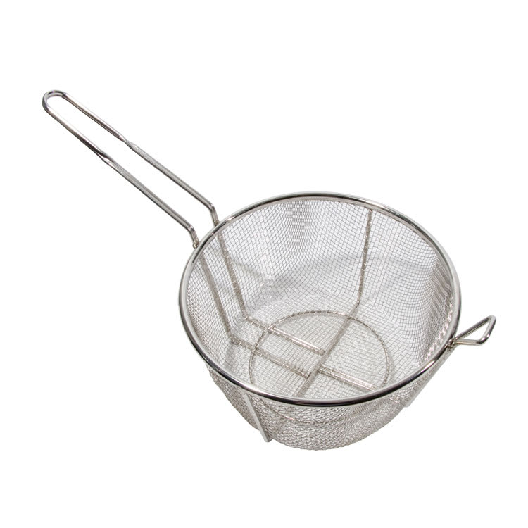 "Town 42940 9 1/2"" Diameter Culinary Basket, 8""Handle, Stainless"