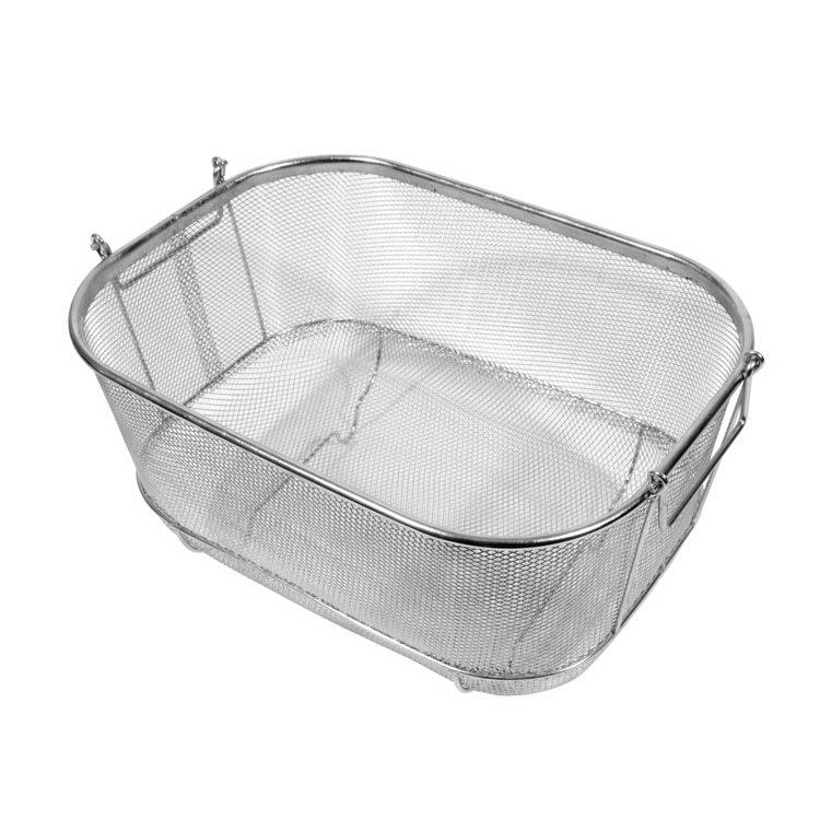 town 42950 bar sink strainer basket w handles feet 9 12 x 14 x 5 12 - Sink Strainer