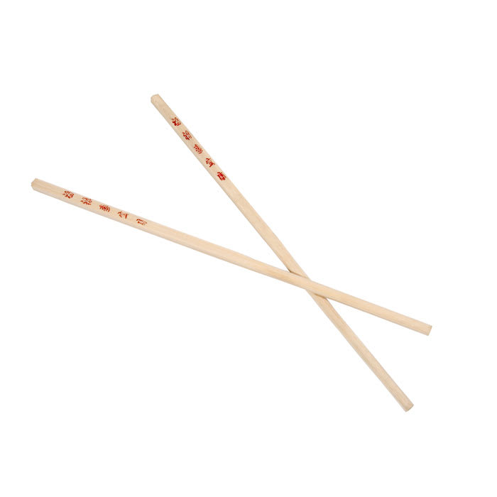 """Town 51310 10-1/2""""Wooden Bamboo Chopsticks, With Red Imprint"""