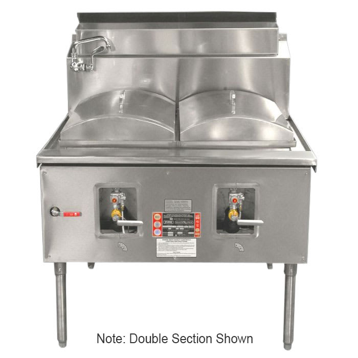 Town CF-1 NG Cheung Fun Noodle Range, Gas, 1 Two Ring Burner, Manual Fill Faucet, NG