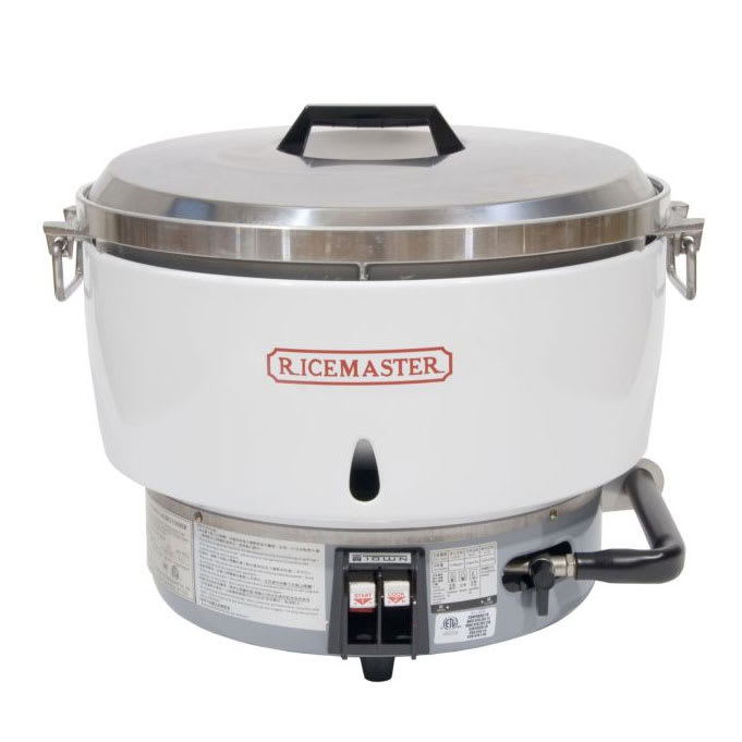 Town RM-55N-R 55 Cup Commercial Rice Cooker, Natural Gas, Aluminum Exterior, NG