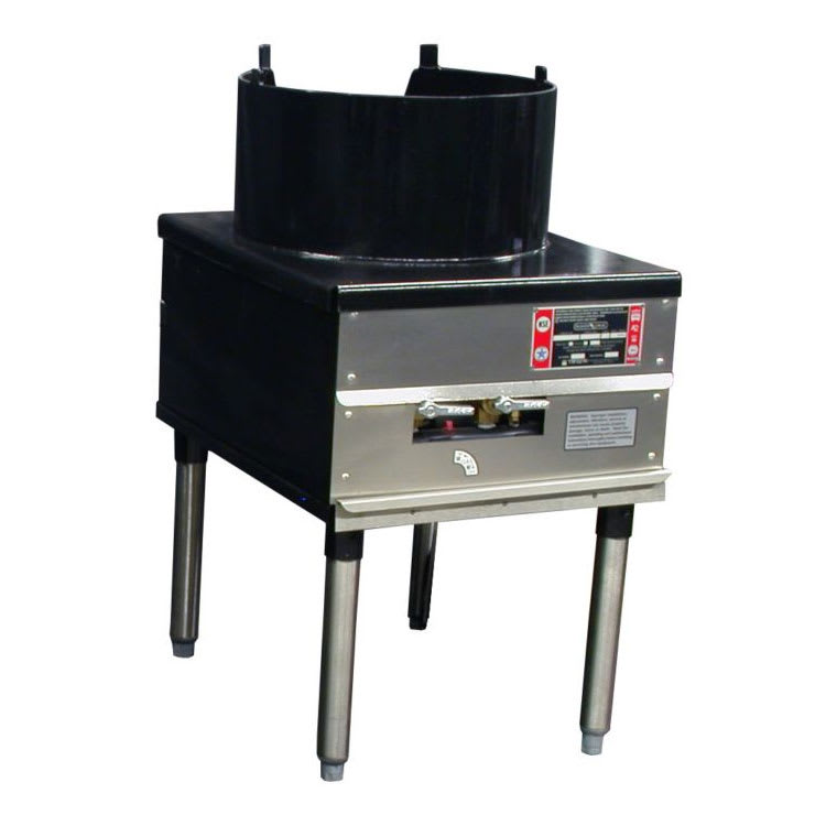 """Town SR-24-C-SS-N 18"""" Cantonese Wok Range, 3/16"""" Steel Top, Rear Gas Connection NG"""
