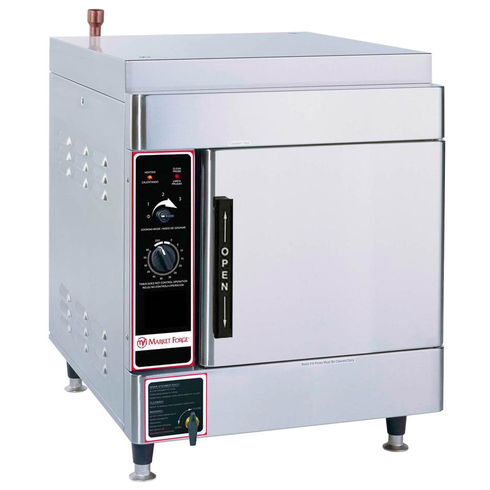 Market Forge ALTAIR II-4 Electric Floor Model Steamer w/ (4) Full Size Pan Capacity, 240v/1ph