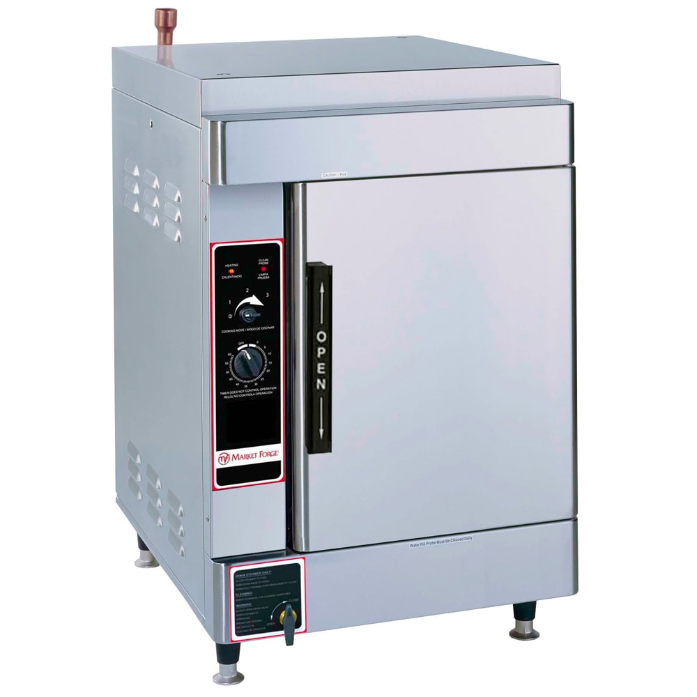 Market Forge ALTAIR II-6 Electric Floor Model Steamer w/ (6) Full Size Pan Capacity, 240v/3ph