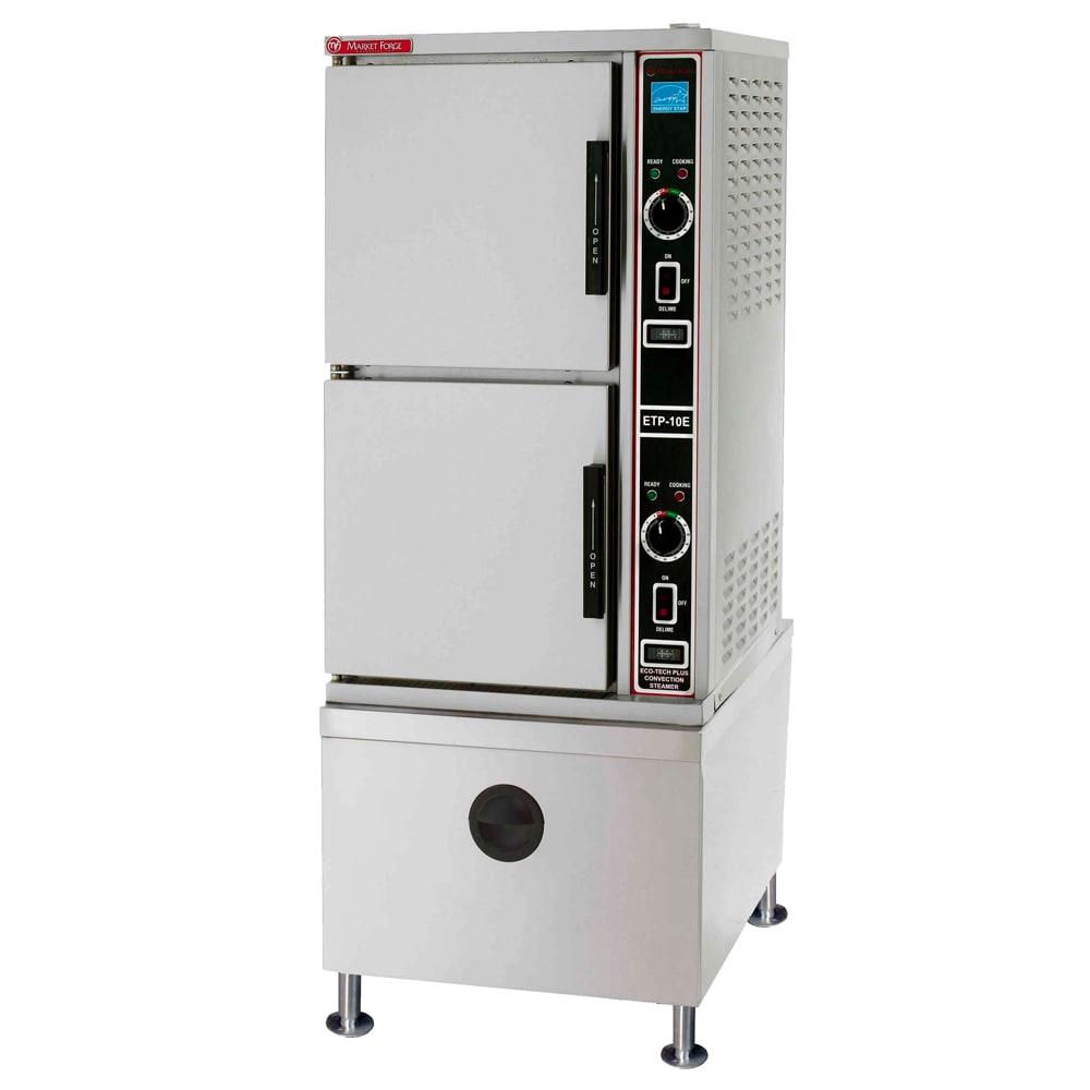 Market Forge ETP-10E Electric Floor Model Steamer w/ (10) Full Size Pan Capacity, 208v/3ph