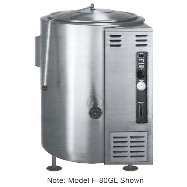 Market Forge F-100GL Kettle, 100 gallon Capacity, SS Construction, LP
