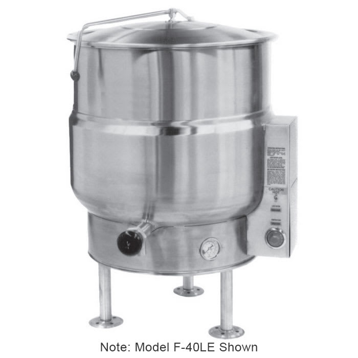 Market Forge F-100LE Kettle, 100 Gallon Capacity, Tri-Leg, All SS Exterior, 208/3 V