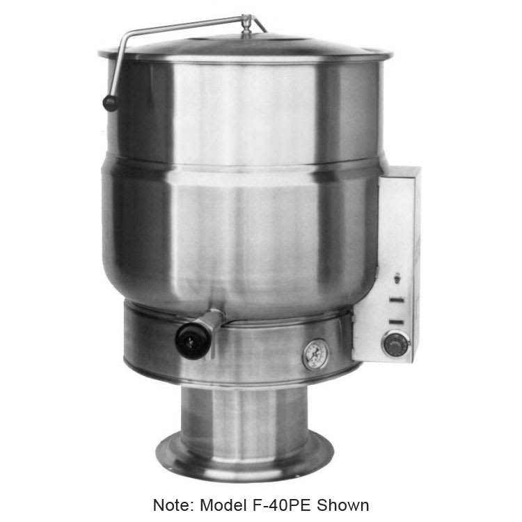 Market Forge F-20PE 20-Gallon Kettle, Pedestal Base, Stainless, 208/3 V