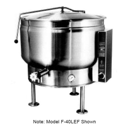 Market Forge F-30LEF 2403 30-gal Kettle w/ Full Steam Jacket Design, Tri-Leg, Stainless Finish, 240/3 V