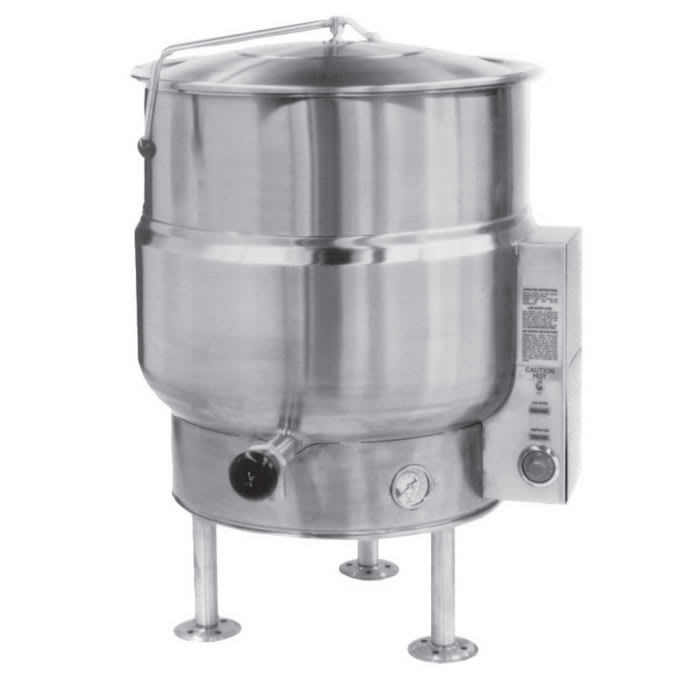 Market Forge F-40LE 40-Gallon Kettle, Tri-Leg, Stainless, 240/3 V