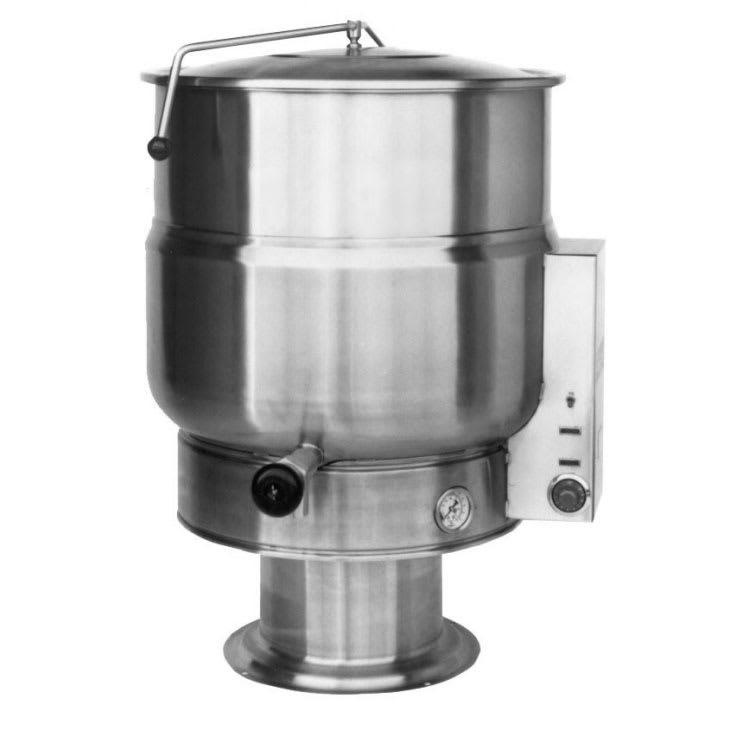 Market Forge F-40PE 40-Gallon Kettle, Pedestal Base, Stainless, 208/1 V