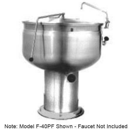 Market Forge F-40PF 40-gal Kettle, Direct Steam w/ Full Steam Jacket Design & Pedestal Base