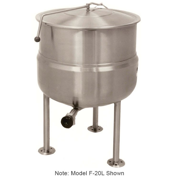 Market Forge F60L Kettle, Direct Steam, 60-gal Capacity, Tri-Leg