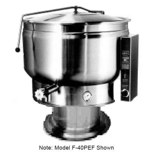 Market Forge F-60PEF 2203 60-gal Kettle, w/ Pedestal Base & Full Steam Jacket Design, Stainless, 220/3 V