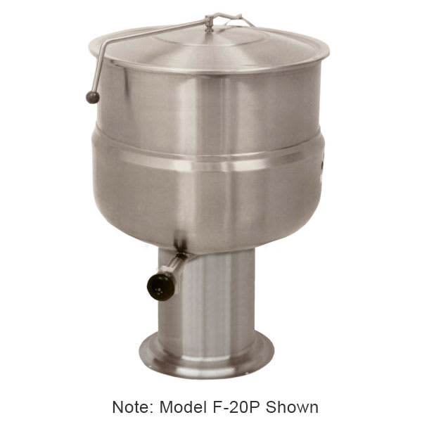 Market Forge F80P Kettle, Direct Steam, 80 gal. Capacity, Pedestal Base