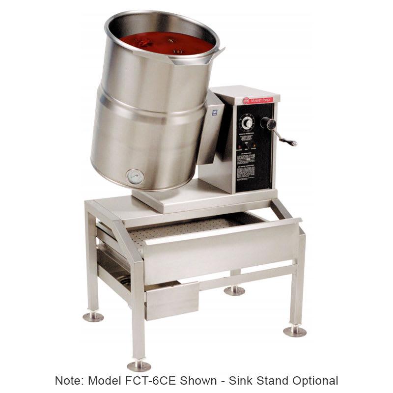 Market Forge FCT-6CE 2081 6-gal Tabletop Kettle, Tilt-Type w/ Hand Crank, Full Steam Jacket, 208/1 V
