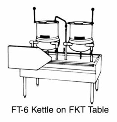 """Market Forge FKT40 Kettle Table w/ Stainless Platfrom & 40"""" Sliding Dump Tray"""