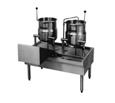"Market Forge FKT-64 64"" Kettle Table for Direct Steam or Electric Units"