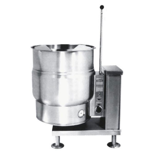 Market Forge FT-20CE 2081 20-gal Kettle, Tilt-Type, 2/3-Steam Jacket Design, Stainless, 208/1 V