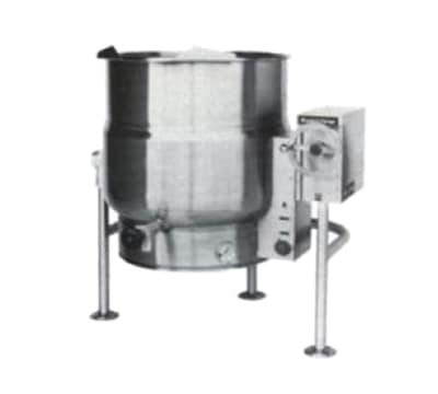 Market Forge FT-40LE 2083 40-gal Tilting Kettle, 2/3-Steam Jacket Design & Open Leg Base, 208/3 V