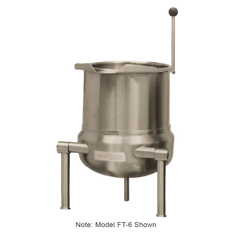 Market Forge FT6 Tilting Kettle, Direct Steam, Table Top, 6 Gallon Capacity