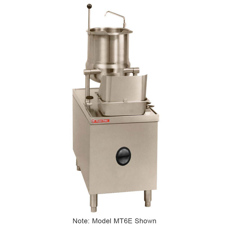 "Market Forge MT10E24A 2083 10-gal Tilting Kettle w/ 24"" Base & 24-kw Steam Generator, 208/3 V"