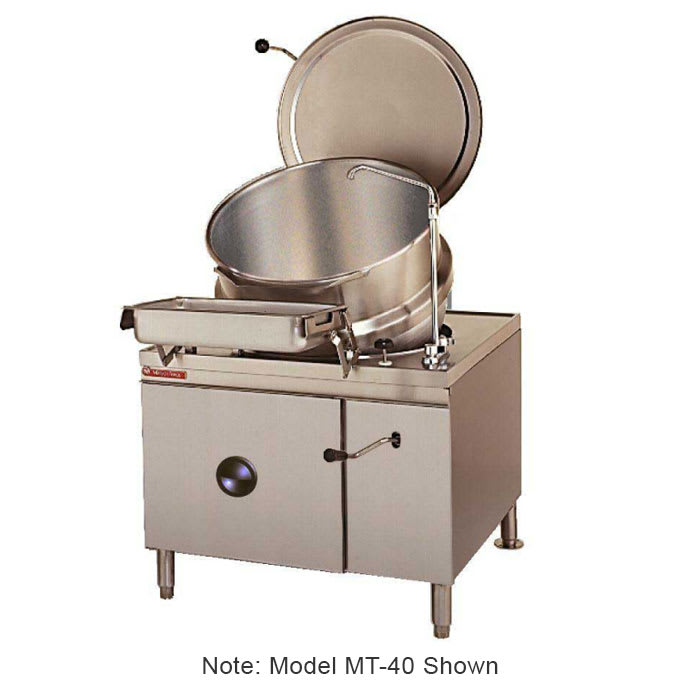 Market Forge MT40 Tilting Kettle, Direct Steam, 40 gal. Capacity, SS