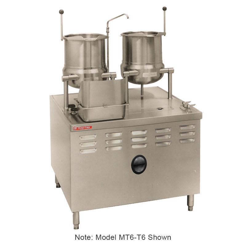 Market Forge MT6T6 Tilting Kettle, Direct Steam, 6-gal Kettles, 2/3-Steam Jacket Design