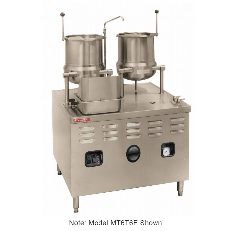 """Market Forge MT6T6E24A 2083 Tilting Kettle w/ 36"""" Base & 24-kw Steam Generator, Stainless, 208/3 V"""