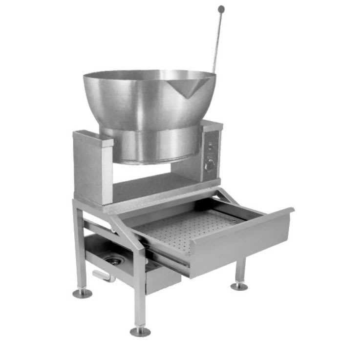 Market Forge R-1600-E 2401 16 gal Tilting Skillet, Power Switch & Thermostat, Stainless, 240/1 V