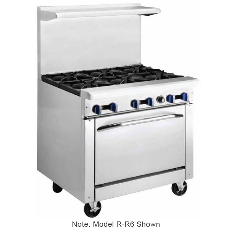 "Market Forge R-R4G-12 36"" 4-Burner Gas Range with Griddle, LP"