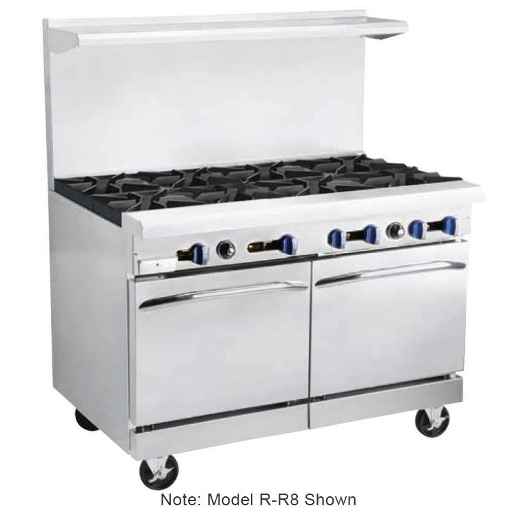 """Market Forge R-RG12-6 48"""" 6-Burner Gas Range with Griddle, LP"""