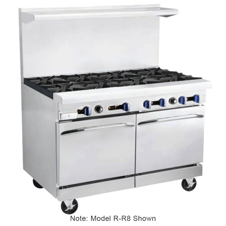 "Market Forge R-RG12-6 48"" 6-Burner Gas Range with Griddle, NG"