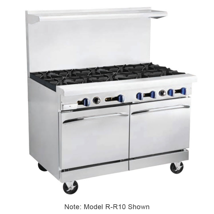 "Market Forge R-RG12-8 60"" 8-Burner Gas Range with Griddle, LP"