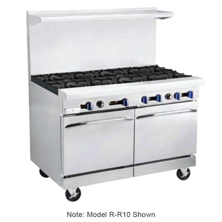"""Market Forge R-RG12-8 60"""" 8-Burner Gas Range with Griddle, NG"""