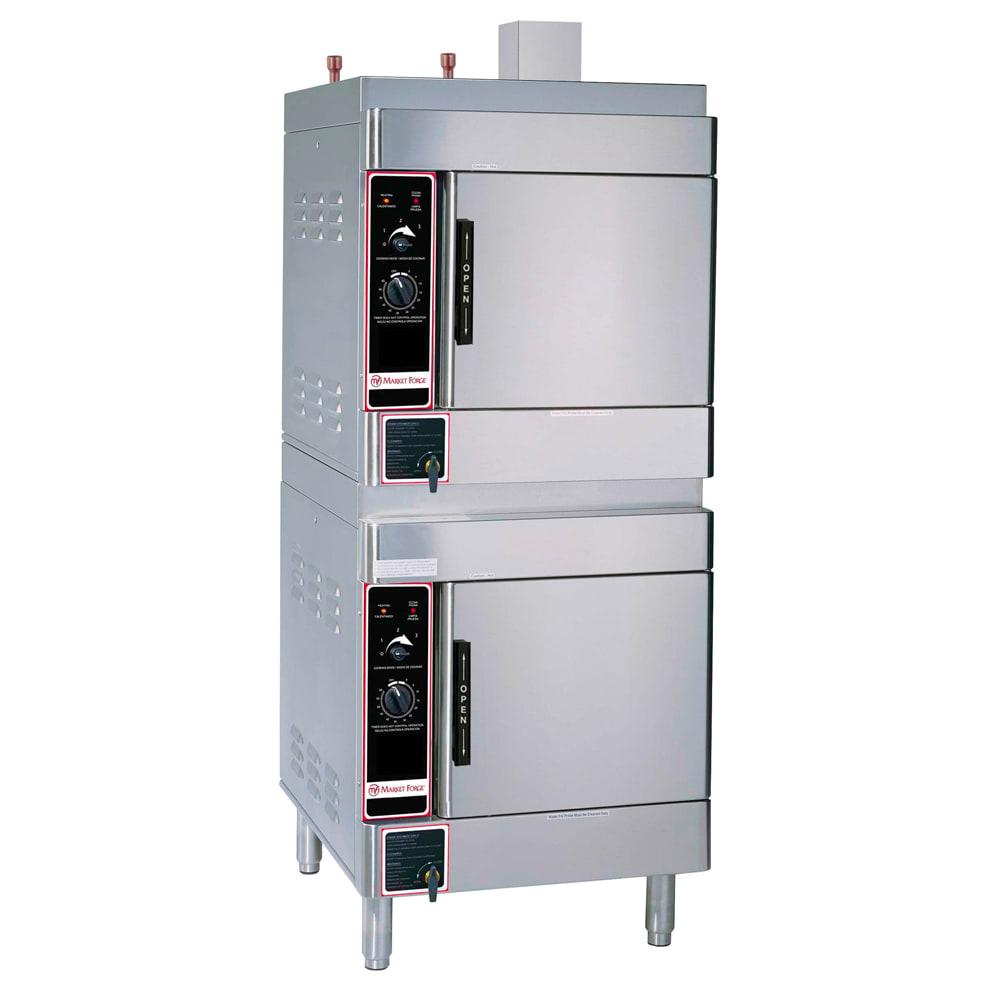 Market Forge SIRIUS II-8 Gas Floor Model Steamer w/ (8) Full Size Pan Capacity, NG