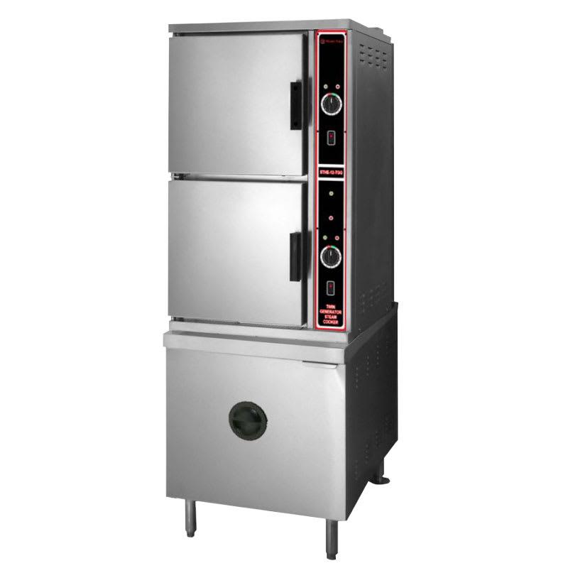Market Forge ST10-2G Gas Floor Model Steamer w/ (10) Full Size Pan Capacity, LP