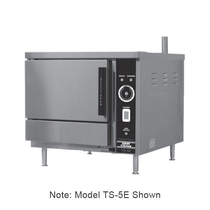 Market Forge TS-5E Electric Countertop Steamer w/ (5) Full Size Pan Capacity, 208v/3ph