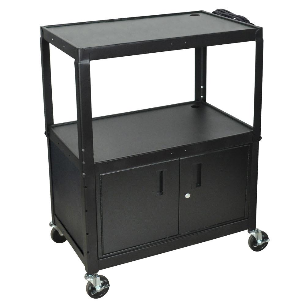 Luxor Furniture AVJ42XLC 3-Level Media Cart w/ 15-ft Cord