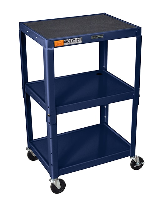 Luxor Furniture AVJ42-Z 3-Level Media Cart w/ 15-ft Cord