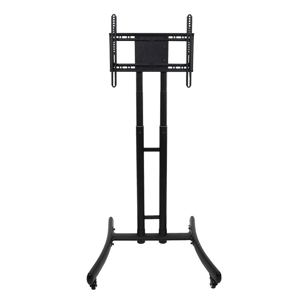 "Luxor Furniture FP1000 Adjustable Rolling TV Stand for 32"" - 72"" TV - Steel, Black"