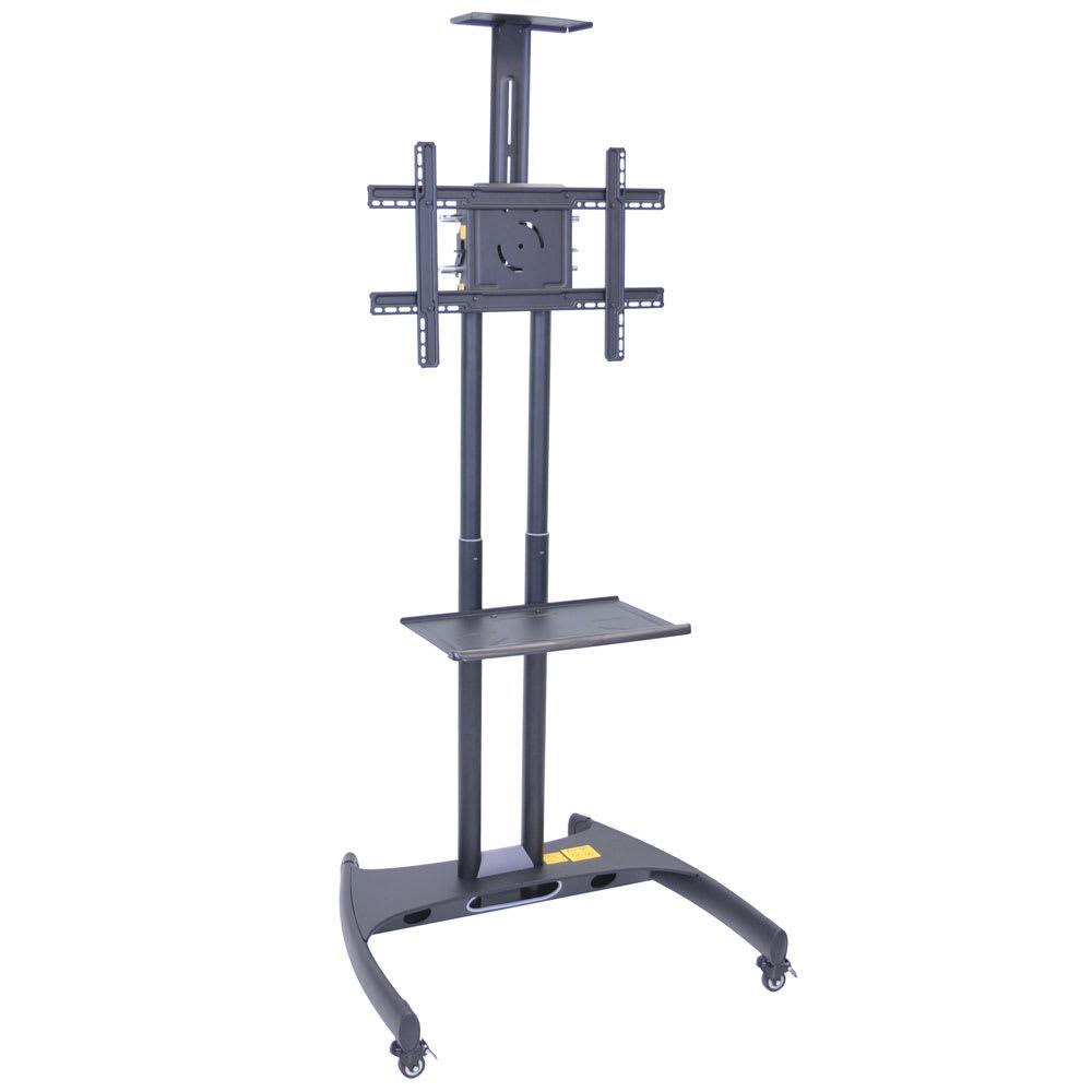 Luxor Furniture FP2750 Adjustable TV Stand w/ Shelf, Camera Mount & 100-lb Capacity, Powder Coat Frame