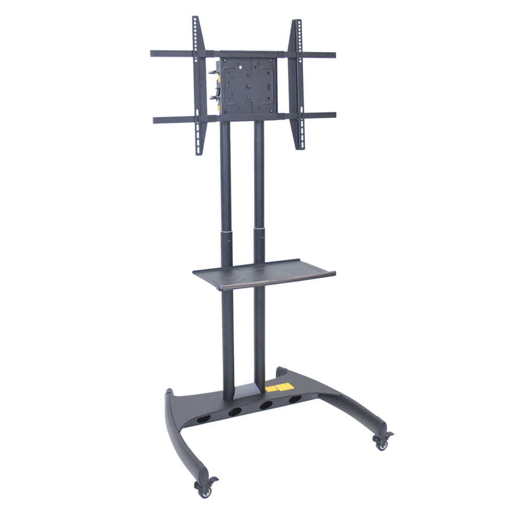 Luxor Furniture FP3500 Adjustable Rotating TV Stand w/ 100 lb Capacity & Locking Casters