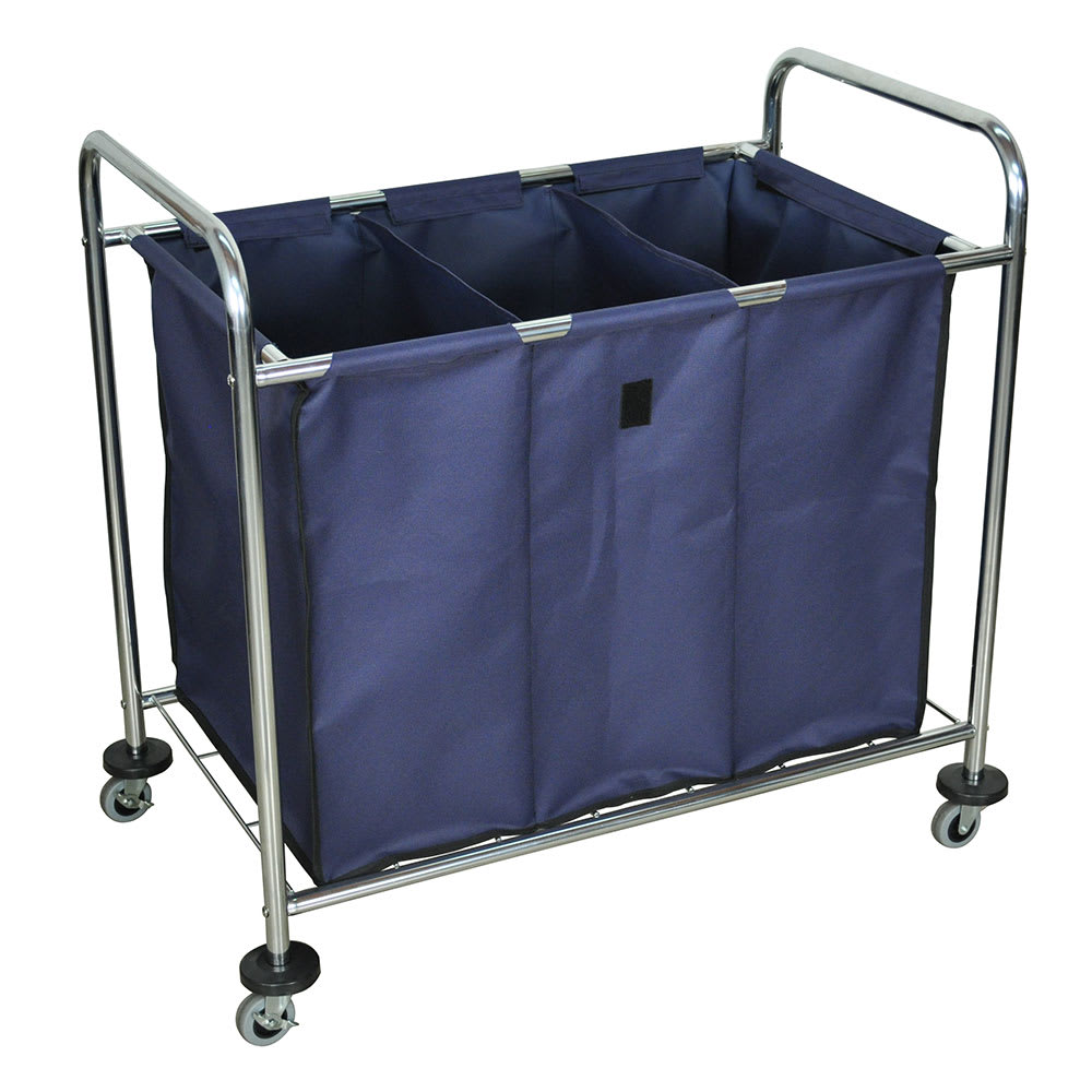 "Luxor Furniture HL15 Heavy Duty Laundry Cart w/ Removable Bag, 36.25""L x 22""W x 36""H"