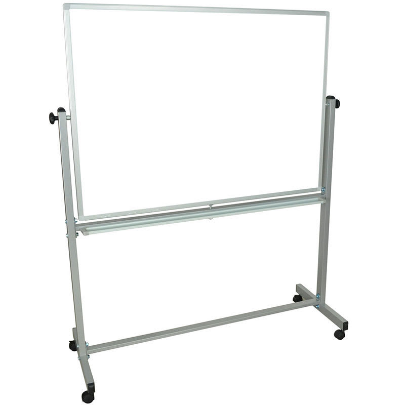 "Luxor Furniture L340 Reversible Magnetic Whiteboard w/ Aluminum Frame, 48"" x 36"""