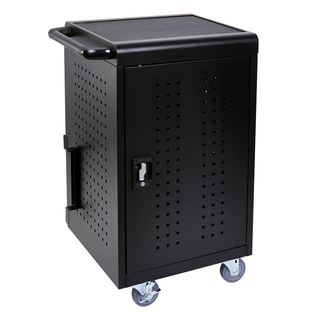 Luxor Furniture LLTM30-B 3 Level Computer Cart w/ 10 ft Cord